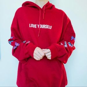 Yours Truly Love Yourself Broken Butterfly Hoodie
